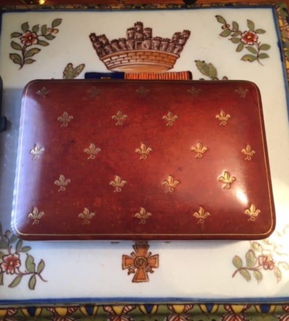 Mens Jewelry Box, Vintage Italian Leather Cufflink