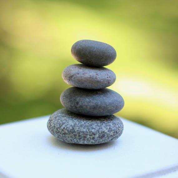 Beach Stones 5 Maine Balancing Stones Zen Stones Etsy
