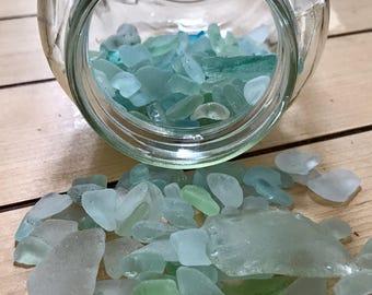 Maine Sea Glass - Turquoise & Aqua - 2 oz Genuine Maine Beach Glass