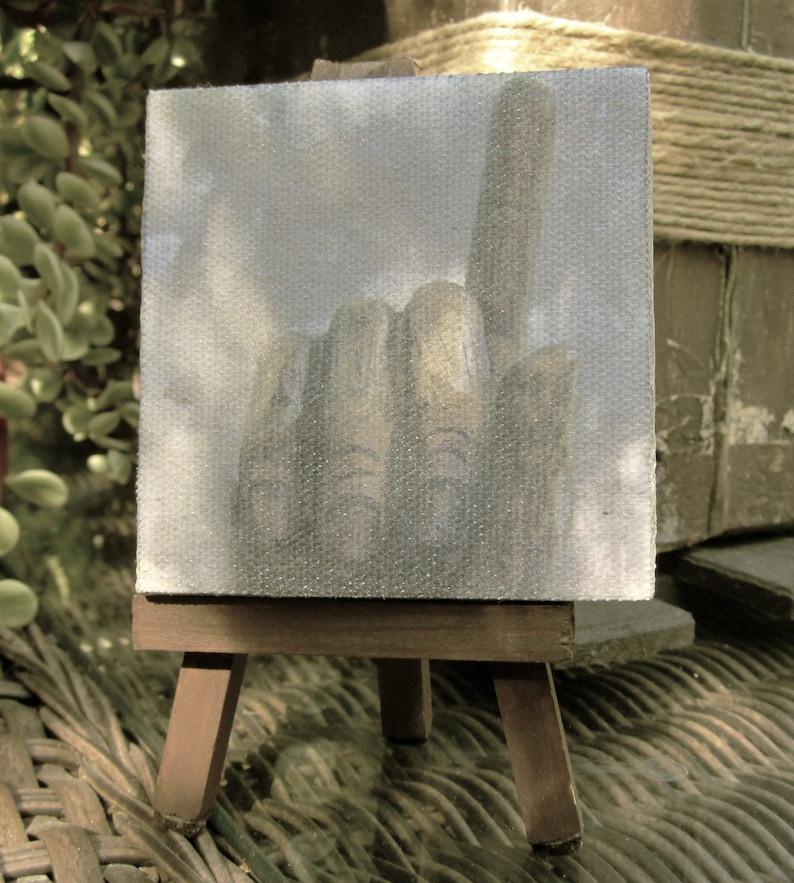 Giclée canvas  rustic cottage decor  pointing finger  art image 0