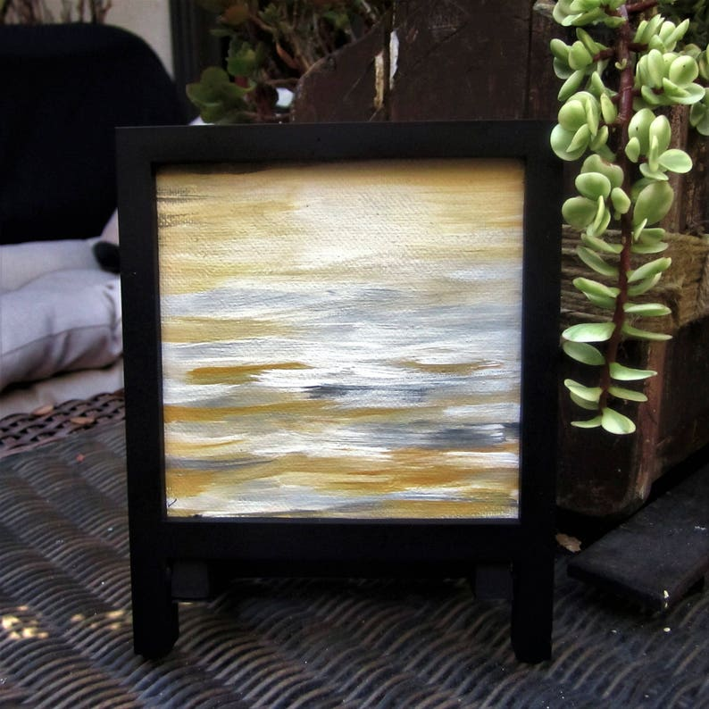 Mini abstract canvas  framed abstract art  abstract small image 0