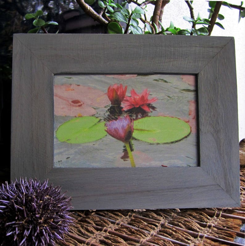 Desktop art  giclée canvas  lotus water lily  small wall image 0