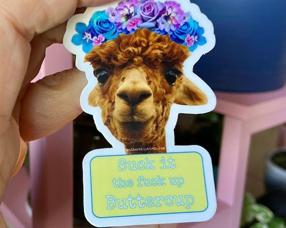 Sweary Llama Vinyl Die Cut Sticker