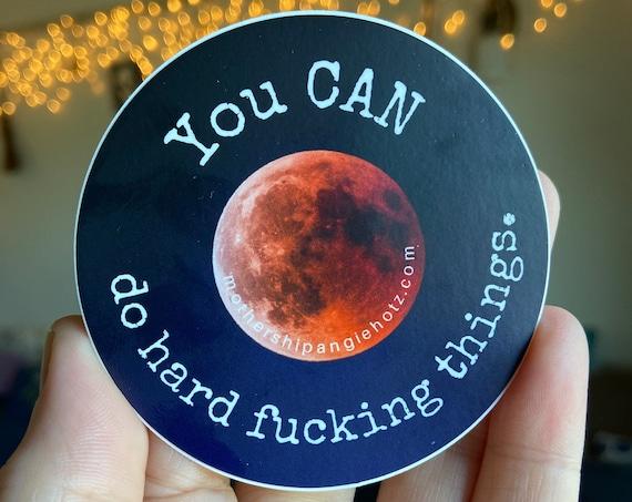 Sweary Full Moon Vinyl Sticker