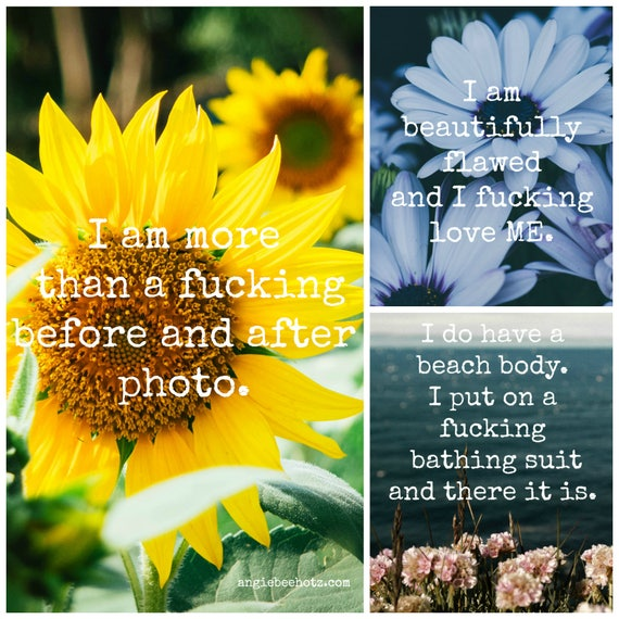 Badass Body Positivity Affirmation Cards Deck For Loving Your Amazing Body