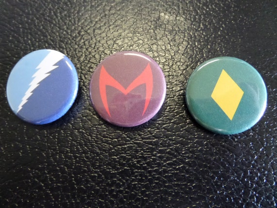 Marvel Quicksilver Scarlet Witch And The Vision Buttons Etsy