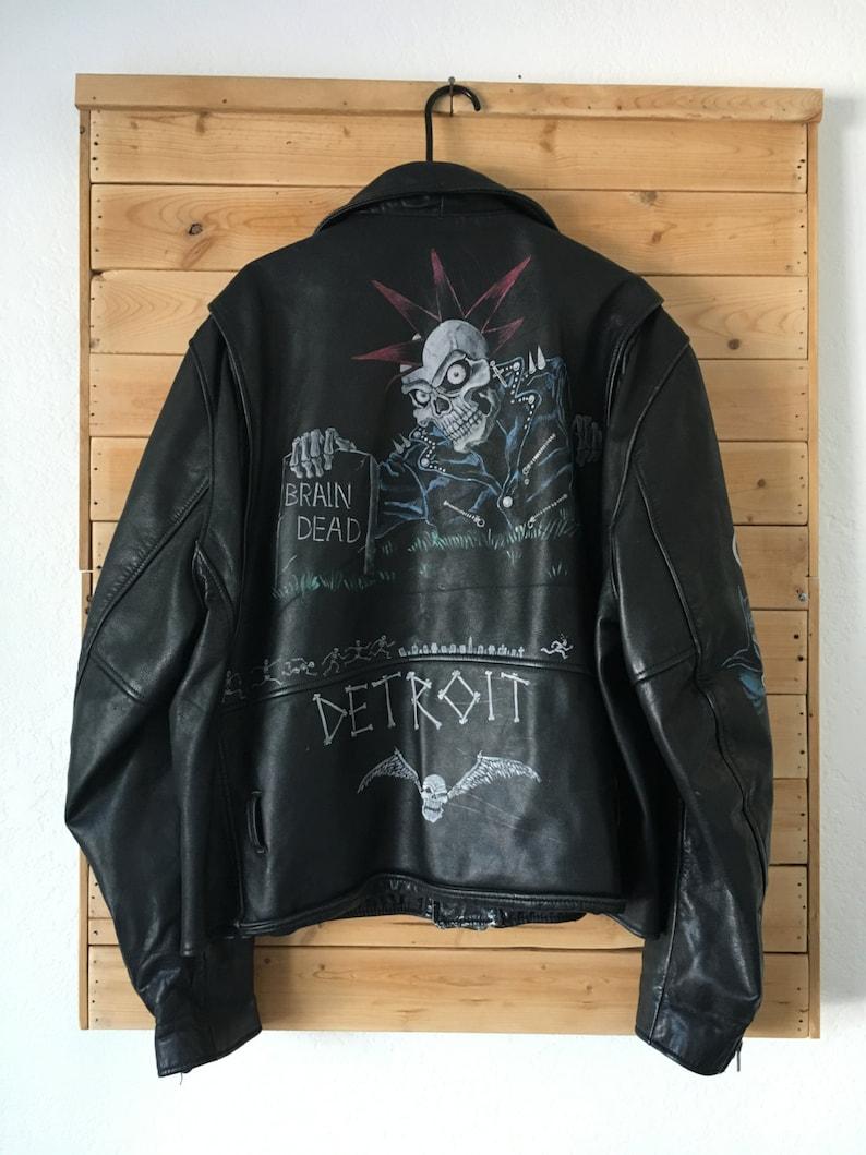 0070fe4716c Chaqueta de cuero Vintage     Vintage chaqueta de cuero Punk