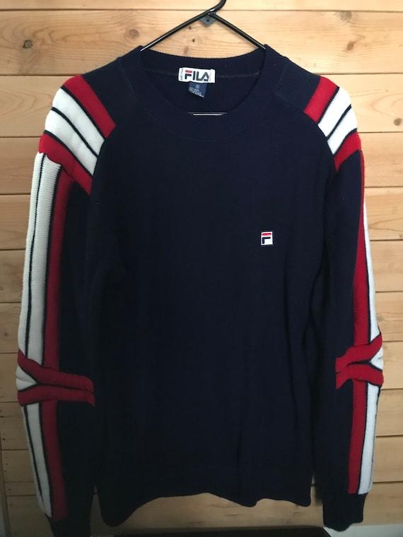 Vintage Fila Sweater// Vintage Fila Sweatshirt// V
