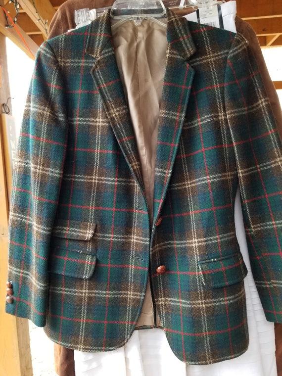 Beautiful Vintage Plaid Welsh Wool Blazer