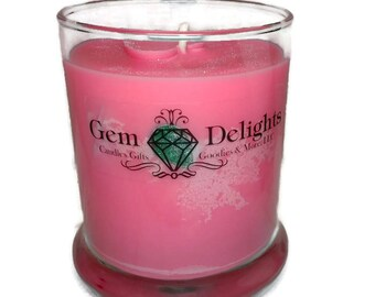 Gemstone Delights Custom Treasure Candle Soy Wax Genuine Loose Gems Hidden Inside!!