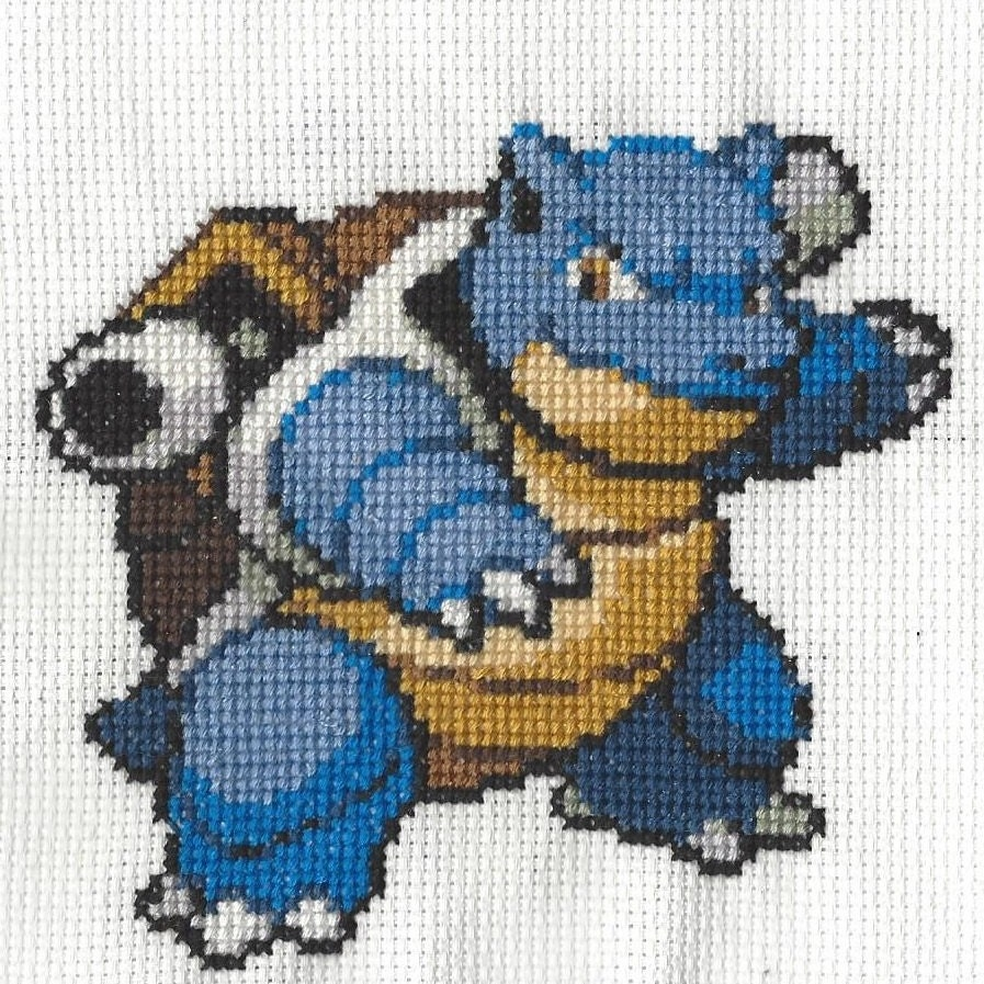 Blastoise Pokemon Cross Stitch Pattern from NintindolNerdyStitch on ...