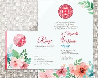Chinese wedding invitations Etsy
