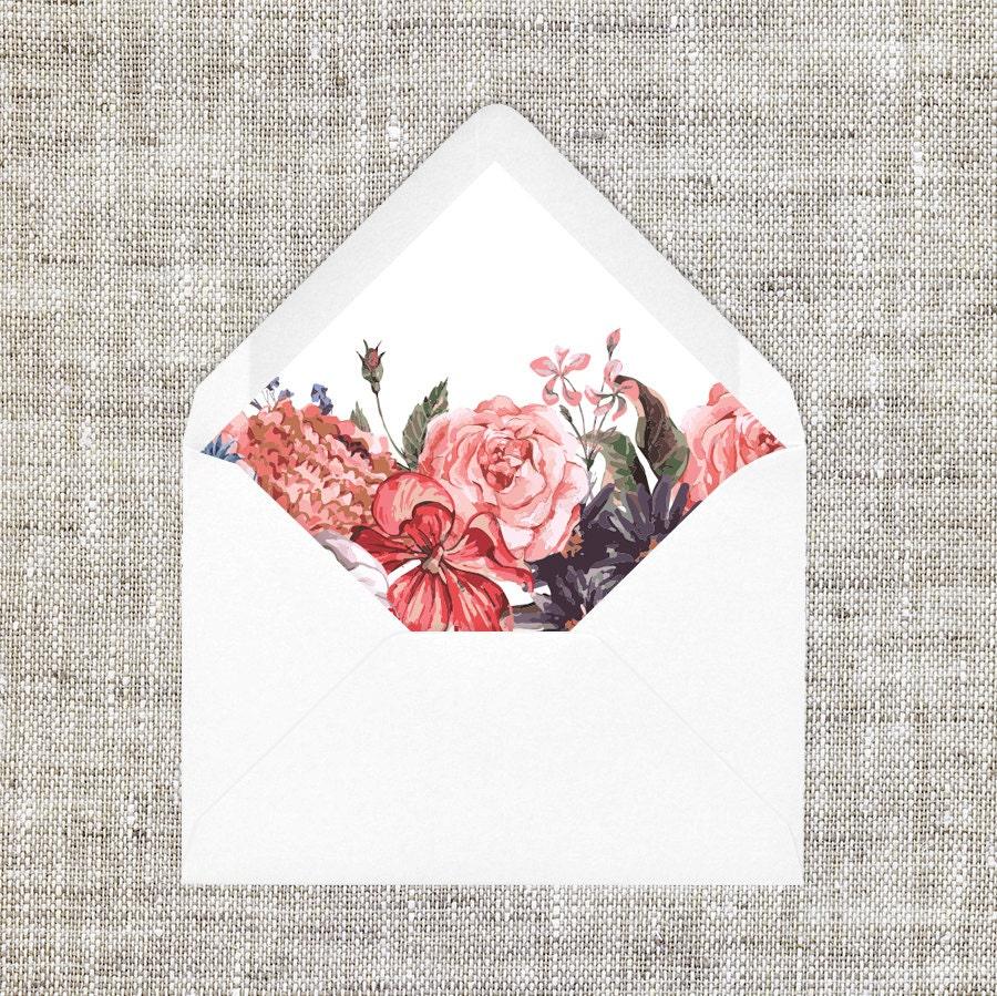 diy printable chinese wedding a7   a6 envelope liner