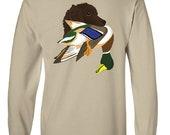 Boykin Spaniel with Mallard Duck Long-Sleeve T-Shirt