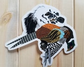 English Setter with Pheasant Sticker Decal