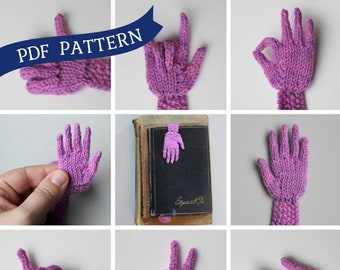 Knitting Pattern - Handy Bookmark / librarian gift - PDF Instant Download