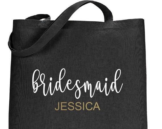 Canvas Tote Bag, Bridesmaid Tote Bag, Custom Tote Bag, Personalized Tote bag, Bride Tote, maid of honor tote,  Bachelorette Party Favor