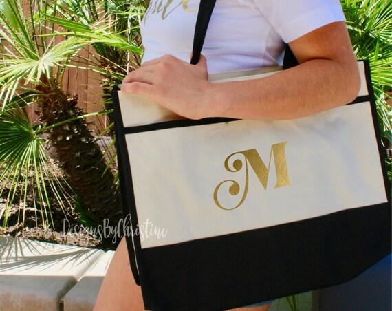 Initial Tote Bag, Bride Tote, Mrs tote, tote bag. personalized tote. custom tote bag. gift tote. initial tote.  travel tote. vacation tote.