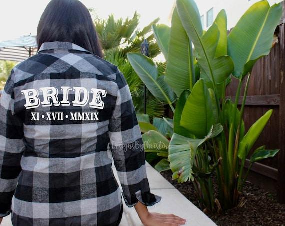 Buffalo Plaid Bridal Flannel | Red bridesmaid flannel shirts | bridesmaid flannel shirt | bridal party flannels | white plaid flannel shirt