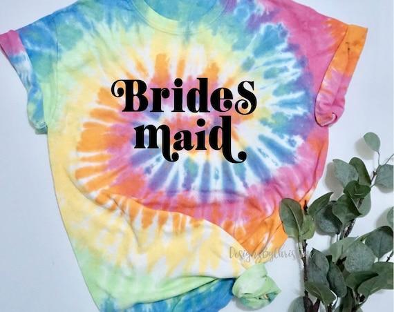 bridesmaid tie dye shirt | Custom bridesmaid shirts | bachelorette party shirts | tie dye custom shirt | Tie Dye shirt