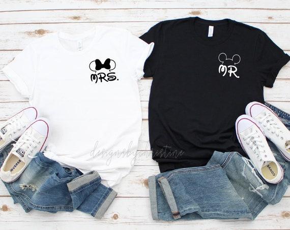 Mr and Mrs Disney shirts | Disney Couples Shirts  | Honeymoon Disney Matching Shirts | Just Married disney shirt |  Mr mrs disney shirts
