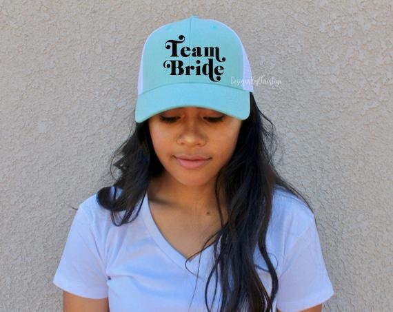Team Bride Hat, Bachelorette Party Hat, Trucker Women, Bridesmaid Hat, Bride hat, Bachelorette Party, bridal party hat