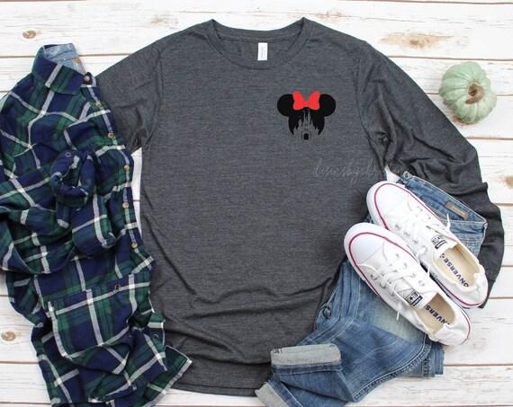 Minnie Long sleeve shirts | Mickey Longsleeve shirt | Minnie Mickey family shirts | mickey head Longsleeve shirt