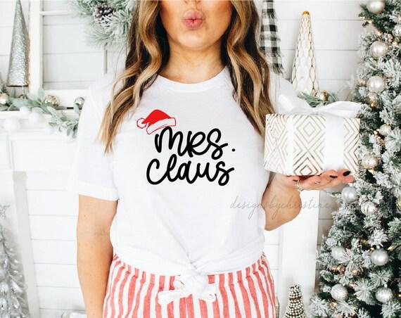 Mrs Claus Shirt   Christmas shirt   cute Christmas shirt   holiday Christmas shirt   Claus shirt   Personalized Christmas tee
