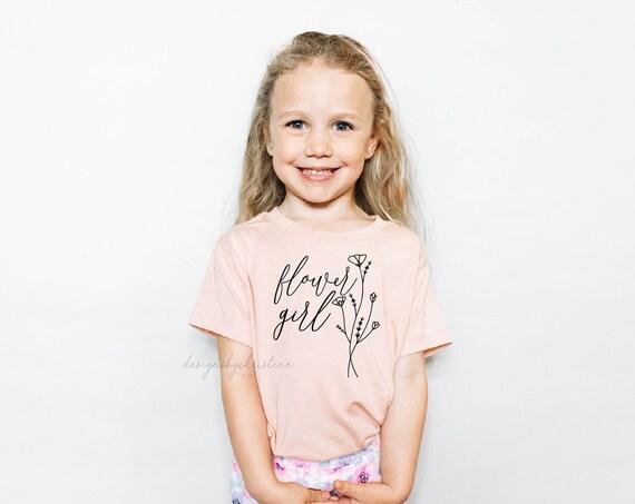 Flower Girls Shirt | Cute Flower Girl Shirt | Youth Flower Girls Shirt  | Petal Patrol Shirt | Flower Girl Shirt Sleeve shirt