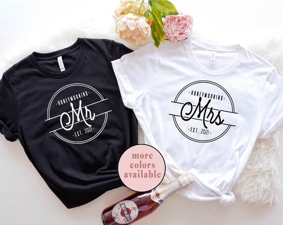 Honeymooning Couples Shirts | Mr and Mrs shirts  | Honeymoon Matching Shirts | Just Married shirts | Honeymoon Shirts