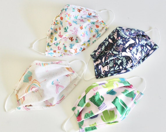 Face Mask, Mask Cover with nose wire & filter, Cotton Face Mask, Washable Face Mask, mask with filter, protective face mask, Girls Prints