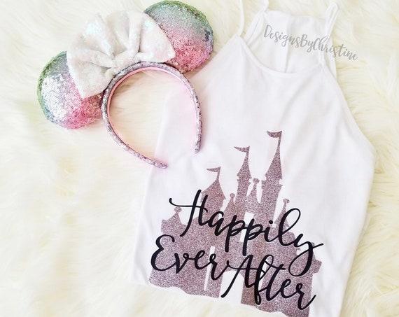 Disney bachelorette shirts,bachelorette Shirt,disneyland tank,disney bride tee,Disney wedding shirts,disney tank, Happily Ever After tank