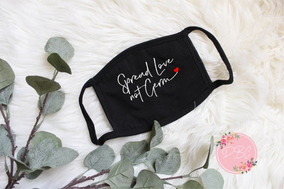 Spread love not Germs Mask with filter pocket | Cotton Face mask | Spread love filter face mask | Cotton Face Mask