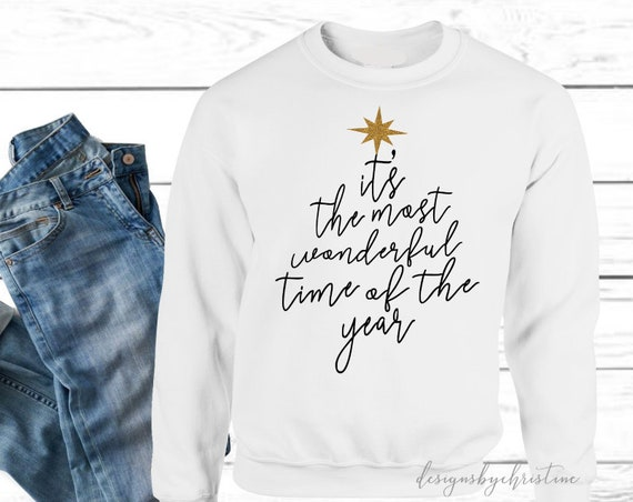 Christmas sweater   christmas sweatshirt   Christmas sweater   Christmas movie sweater   christmas pjs   most wonderful time of the year
