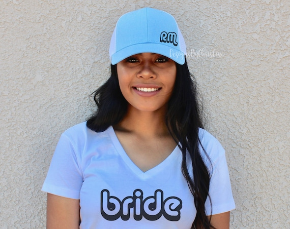 Bride Hat, Bachelorette Party Hat, Initial custom hat, Bridesmaid Hat, Bride hat, Bachelorette Party, bridal party hat. Custom hat