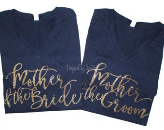 c84c294b39f7c Mother or the Bride shirt. Mother of the groom shirt. Bridal party glitter  shirts. Mom wedding shirts. Mom Unisex shirts