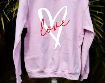 e9491eb5 Valentine's Day Sweatshirt - Heart Valentines Sweatshirt. Love sweater,  Heart Sweater, Women's Valentine's Apparel. Valentines day shirt
