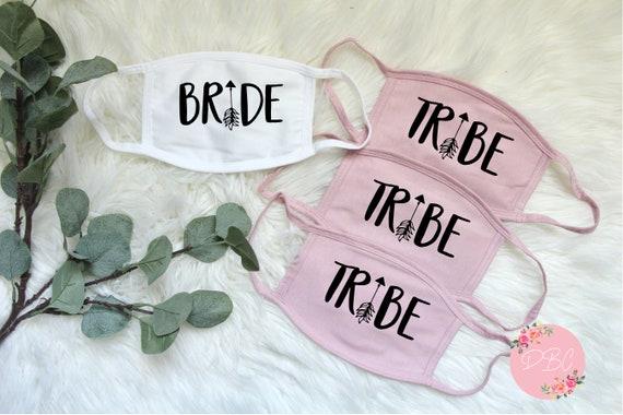 Team Bride Face Mask, Bride Face mask, Bachelorette party face mask, Cotton Face Mask, Custom face mask, Pink team bride mask