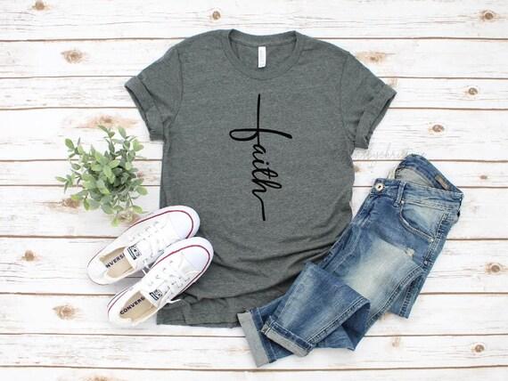 Faith shirt | Faith Cross shirt | Religious shirt | Church | Religious | Good Friday | Easter | Baptism | Christian Tees | Jesus lover gift