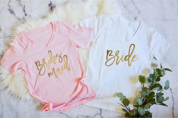 Bridesmaid Shirts, Bridesmaid Proposal, Bridesmaid Gift, Bridal Party Shirt, Bachelorette Party Shirt, Pink bridesmaid shirts