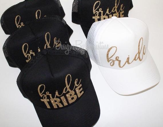 Bride Tribe Hat. Bride Trucker hat. Bachelorette hats. Bridesmaid hat. bridal party hats, bride hat, bride squad hat