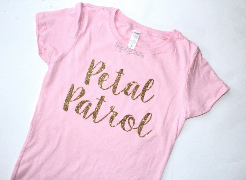 Flower Girl shirt. Glitter shirt. Flower Girl Tee. Flower image 0