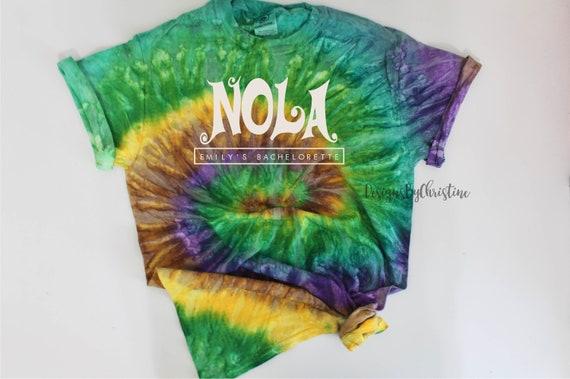 NOLA bachelorette Shirt | Tie dye Nola bridal party shirts | New Orleans bachelorette shirt | NOLA girls trip shirt | NOLA shirt