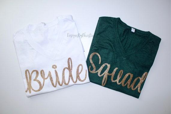 Bridesmaid shirt. Bride Squad Shirt. bridal party getting ready outfit,bridesmaid proposal, bridesmaid gift, bachelorette shirt. Bride shirt