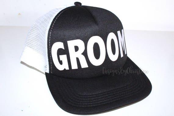 GROOM Trucker Hat. Groom Bachelor hat. Bachelor hats