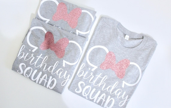 Birthday Squad shirts | Birthday Disney T-shirts | Disney bday Shirts | Cute Disneyland birthday Shirts | Disney Ear Shirt