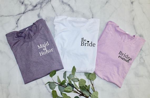 Bridesmaid Lilac purple Shirt| custom bridesmaid shirt | Bride Shirt | bridesmaid shirts | plum lilac shirts