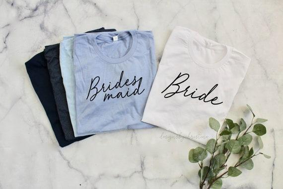 bride's Crew shirt | custom bridesmaid shirt | Bride Shirt | bridesmaid shirts | bachelorette crew shirt | maroon and blush shirts