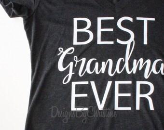 Best Grandma Ever. Best grandma tee. Best grandma ever shirt. Grandma Shirt. Grandma gift.
