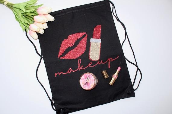 Makeup travel bag. makeup bag. Bachelorette bag. bride gift. Bachelorette gift. makeup tote. personalized bag.